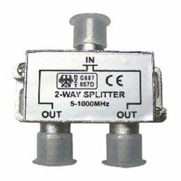 Запчасти к аудио- и видеотехнике - ТВ сплиттер на 2 телевизора Cablexpert проф, 0