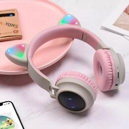 Наушники и Bluetooth-гарнитуры - Беспроводные наушники со светящимися ушками , 0