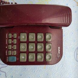 Проводные телефоны - Стационарный телефон с большими кнопками и цифрами, 0