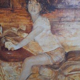 """Картины, постеры, гобелены, панно - Картина.""""Девушка на мотоцикле"""", 0"""