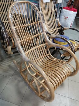 Плетеная мебель - Кресло-качалка Верба, 0