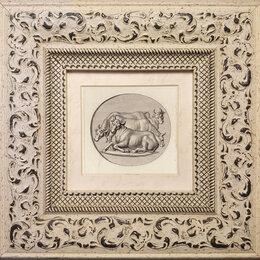 Гравюры, литографии, карты - Офорт 1790 года с изображением коров и быков, в…, 0