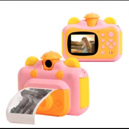 Фотоаппараты - Детский фотоаппарат в виде бегемотика с печатью, 0