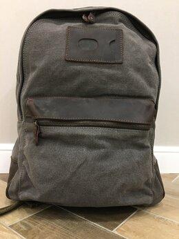 Рюкзаки - Рюкзак холщовый серый новый, 0
