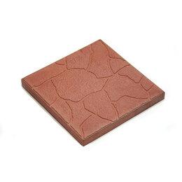 Тротуарная плитка, бордюр - Тротуарная плитка 300*300*30 тучка коричневая, 0