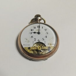 Карманные часы - Антикварные серебряные женские карманные часы., 0