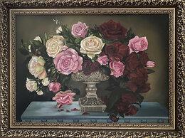 """Картины, постеры, гобелены, панно - картина маслом """"Розы в вазе"""" для классического…, 0"""