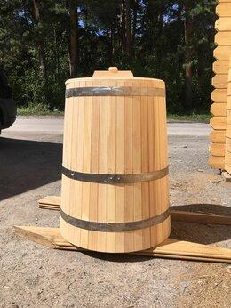 Бочки, кадки, жбаны - Кадка деревянная с крышкой 200 л. Бочка для воды, 0