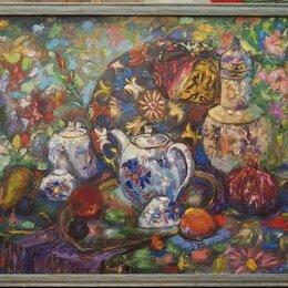 Картины, постеры, гобелены, панно - Картина маслом на холсте натюрмторт,живопись, 0