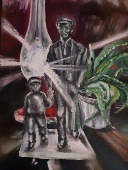 Картины, постеры, гобелены, панно - Натюрморт с лампой, 0