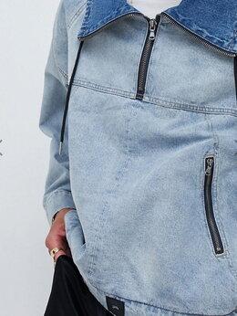Куртки - Джинсовая куртка с логотипом на спине Sixth June…, 0