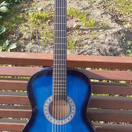 Акустические и классические гитары - Синяя гитара для начинающих, 0