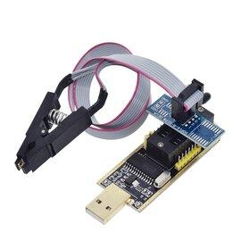 Прочие комплектующие - Программатор ch341a с прищепкой eeprom bios, 0