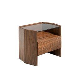 Тумбы - Прикроватная тумбочка коричневая шестиугольная от Angel Cerda, 0