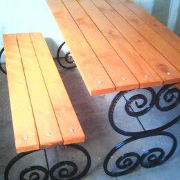 Комплекты садовой мебели - Стол и две лавки для дачи., 0