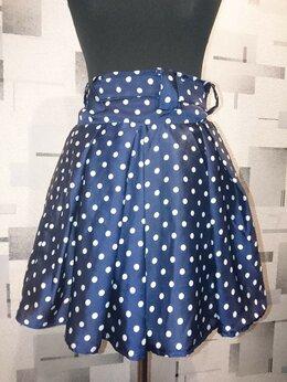 Юбки - Атласная юбка в горошек, 0
