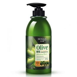 Маски и сыворотки - Шампунь для волос с маслом оливы, 400мл, 0