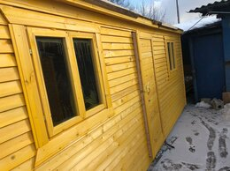 Готовые строения - Бытовка новая деревянная 2 окна тёплая , 0