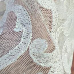 Шторы - Французский тюль с вышивкой цвета шампань , 0