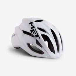 Спортивная защита - Велошлем Met Rivale, белый 2019 (Размер: L (59-62 см) ), 0