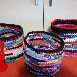 Рукоделие, поделки и сопутствующие товары - Вязанные корзиночки, 0
