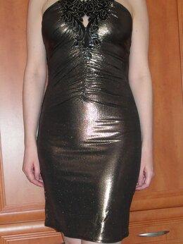 Платья - Золотое коктейльное платье, 0