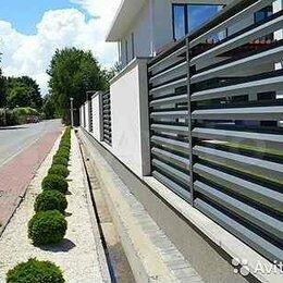 Заборы, ворота и элементы - Металлический забор Жалюзи GL 0,45  RAL 8012, 0