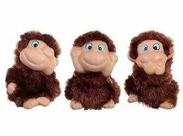 Новогодние фигурки и сувениры - Три мудрые обезьяны, 7 см, (набор 3 шт.), SNOWMEN, 0