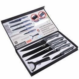 Наборы ножей - Карбон Набор ножей кухонных Satoshi, 6 предметов, в магнитной коробке, 0
