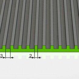 Садовые дорожки и покрытия - Резиновое покрытие поперечный рубчик 3,5х1200 мм, черное, 0