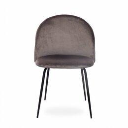 Стулья, табуретки - Стул мягкий с металлическими ножками серый Oslo black, 0