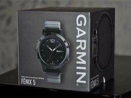 Умные часы и браслеты - Garmin Fenix 5 Sapphire Metal (новые, открыты), 0
