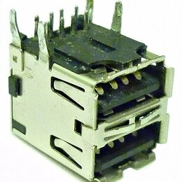 Компьютерные кабели, разъемы, переходники - Разъем USB 2.0 type A двойной, 0