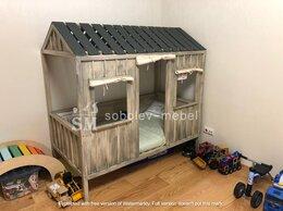 Кроватки - Кровать домик с окошками и крышей, 0