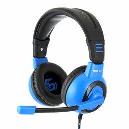Компьютерные гарнитуры - Гарнитура игровая Gembird MHS-G50 черный синий, 0