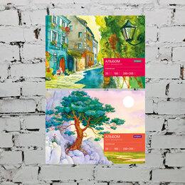 Рисование - Альбом для акварели 20л. А4 на склейке, блок рис.бум., 180г/м2 Спейс, 0