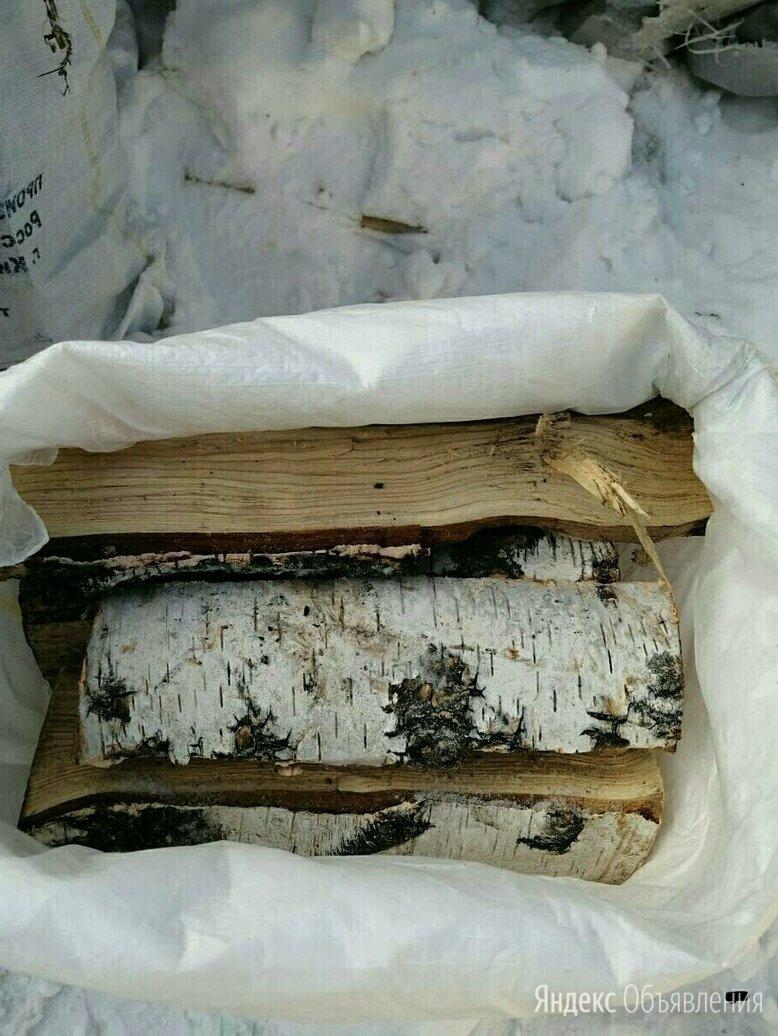 Дрова березовые в мешках естественной влажности по цене 300₽ - Дрова, фото 0