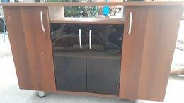 Тумбы - Тумба, шкаф для документов со стеклянными дверцами, 0