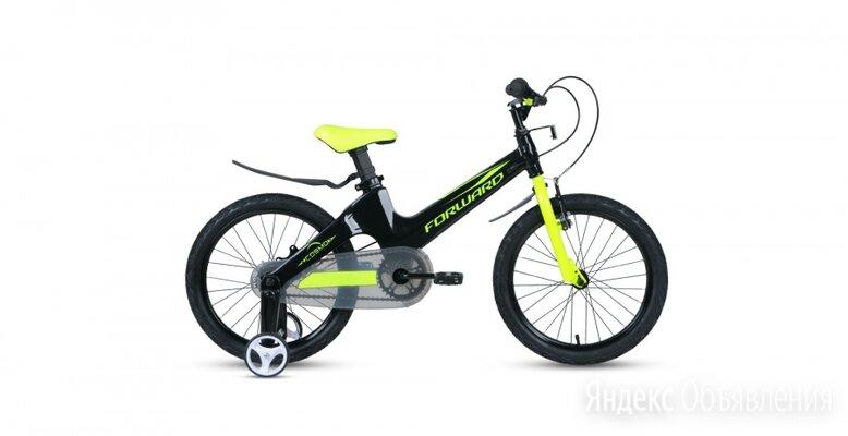 Детский велосипед FORWARD Cosmo 16 2.0 черный/зеленый (2021) по цене 10521₽ - Велосипеды, фото 0
