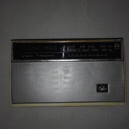 Радиоприемники - Радиоприёмник Сокол-403, винтаж,СССР, рабочий, 0
