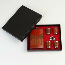 Фляги - Подарочный набор 6 в 1: фляжка 270 мл, воронка, 4 рюмки, 0