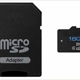 Карты памяти - Micro sd 16gb 10-го класса + Переходник, 0