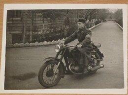 Фотографии и письма - Две фотографии военнослужащий СА СССР на мотоцикле, 0
