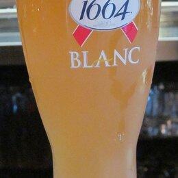 Бокалы и стаканы - Бокалы пивные Kronenbourg 1664 Blanc 0.5 новые, 0
