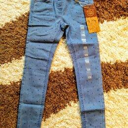 Джинсы - Новые тонкие джинсы. Рост 128. , 0