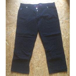 Джинсы - Мужские джинсы большого размера чёрный вельвет (Recitare оригинал), 0