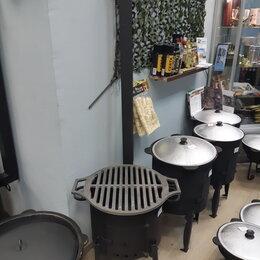 Печи для казанов - Печь стальная 3 мм. для казана в комплекте с чугунной решеткой , 0