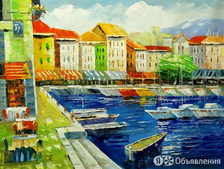 """Картина маслом Картина """"Набережная в Венеции"""", 70x50 по цене 6000₽ - Картины, постеры, гобелены, панно, фото 0"""