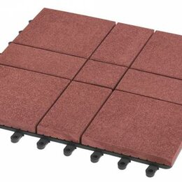 Паркет - Садовый паркет Люкс 11 Grinder / Гриндер ДПК, 300x300 мм, цвет мербау, упаковка , 0