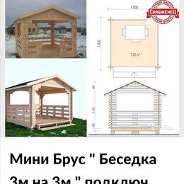 Готовые строения - Беседка для дачи из дерева 3*3 изминибруса, 0